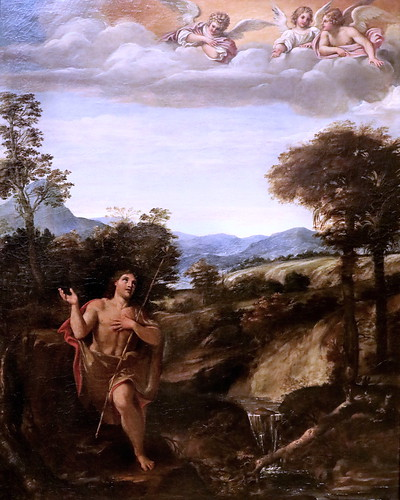 IMG_8020 Annibale Carracci 1560-1609  Bologne Roma Saint Jean Baptiste dans un paysage  c 1595 Bologna Pinacoteca Nazionale