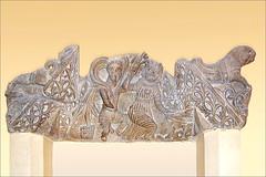 Fronton mythologique, musée copte du Caire (Égypte)