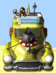 Paradeise Plumbers Van graphic from the website