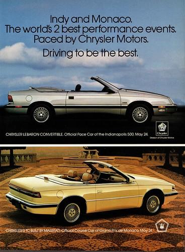 1987 Chrysler LeBaron & TC Convertibles