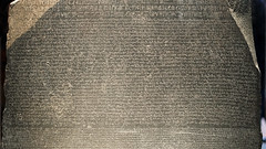 Rosetta Stone, detail; with Demotic script