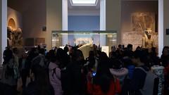 Rosetta Stone hidden behind crowd