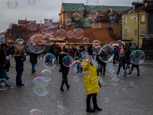 Warszawa in bubbles