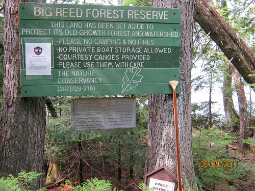 Welcome sign, Big Reed Forest Preserve