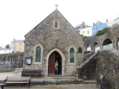 Photo of The church on the beach in Tenby I believe it is for the fishermen of the area