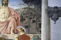 Piero, The Resurrection, detail of town