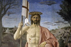 Piero, The Resurrection, detail with Christ