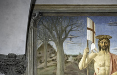 Piero, The Resurrection, detail of barren trees