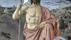 Piero, The Resurrection, detail of Christ's chest and wounds