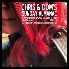 diary #2585: Sunday Almanac: Realtime Spotify Set, May 17th, 2020