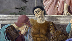 Piero, The Resurrection, detail with soldiers