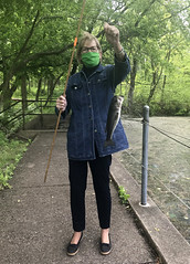 Mary Dare caught a trout!