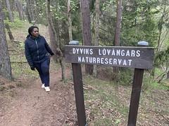 Cristina hiking