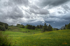 Wolkenmassen über dem Schwarzwald