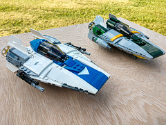 A-Wing Blue and Green