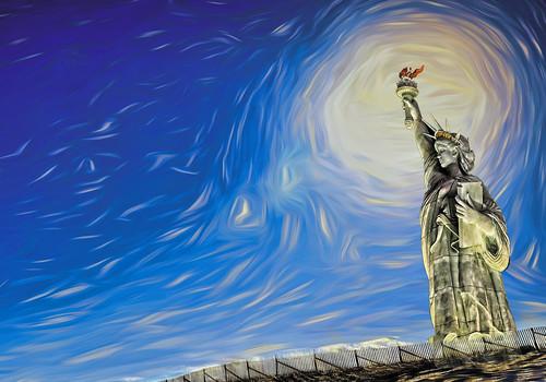 Miss Liberty Lights the World