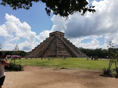 Pirámide de Chichén Itzá. Tinum. Yucatán (México).