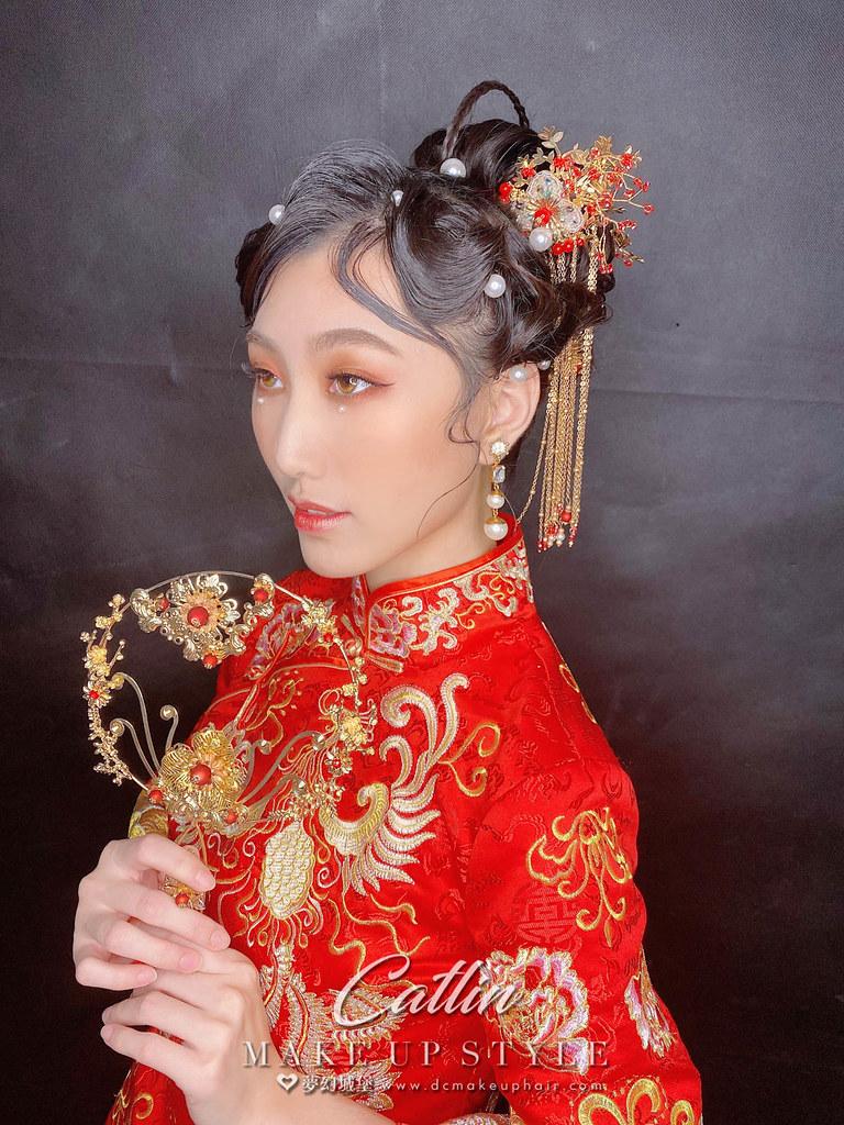【新秘Catlin】新娘造型創作 / 中式華麗復古風
