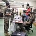 U.S. Marines participate in a SCBA fit test
