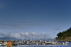 Thieves Bay Marina on South Pender Island, British Columbia  -  (Published by GETTY IMAGES)