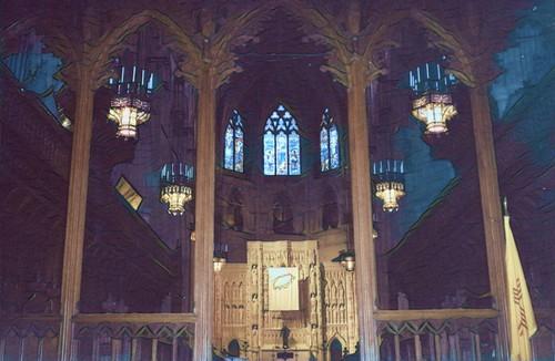 Pittsburgh Pennsylvania  - Heinz Memorial Chapel - Historical  - Interior Altar