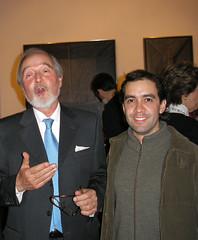 Junto a Claudio Bravo en Madrid