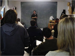 Clase en taller de Martín Soria