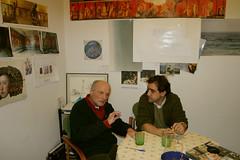 Con Antonio López en su taller