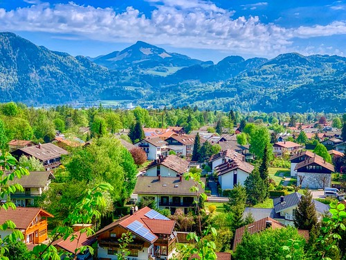 View of Oberaudorf in Bavaria, Germany