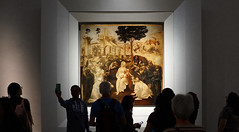 Leonardo, Adoration of the Magi with crowd