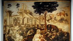 Leonardo, Adoration of the Magi, detail