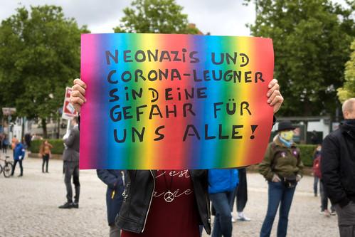 "23.05.2020 – Kundgebung ""Solidarität statt Hetze"" in Saarbrücken"