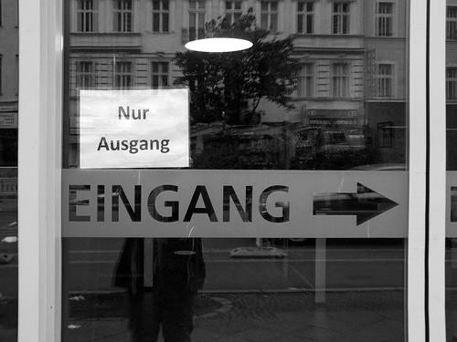 Nur Ausgang - Eingang ->