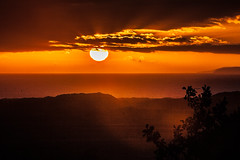 Photo of welsh sunset over the sea