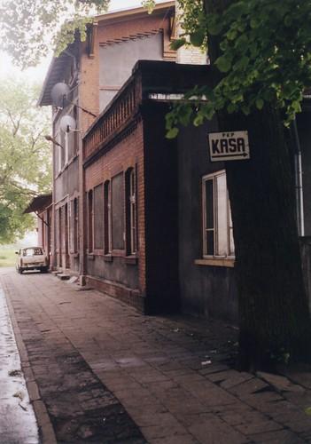 Koszalin, Empfangsgebäude mit Kasse