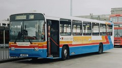 Photo of Lancashire United 192 J112 WSC on layover in Moor Lane Bus Station at Bolton.