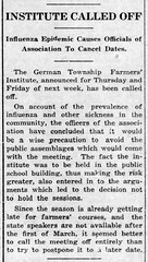 1920-02 - Spanish flu cancels farmers institute again - Enquirer - 19 Feb 1920