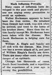 1920-01 - Spanish flu returns - Enquirer - 22 Jan 1920