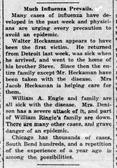 1920-01 - Spanish flu returns - Enquirer - 22 Jan 1920