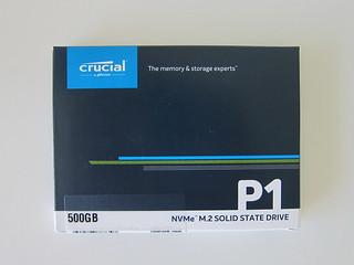 Crucial P1 500GB NVMe M.2 SSD