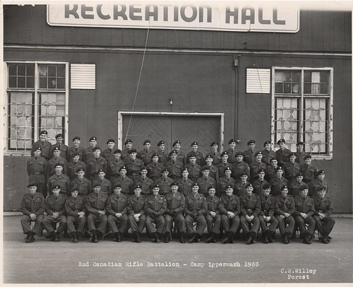 00553.01 2nd Canadian Rifles Battalion - Camp Ipperwash 1953 Rienforcements to 1 QOR of C in Germany Delaney, RJ D Coy