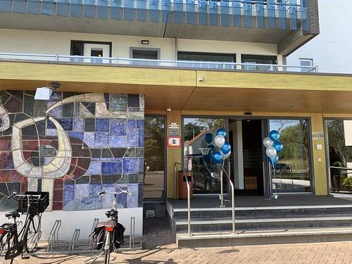 Tafeldecoratie 5ballonnen Gronddecoratie Termaat Huis Rotterdam