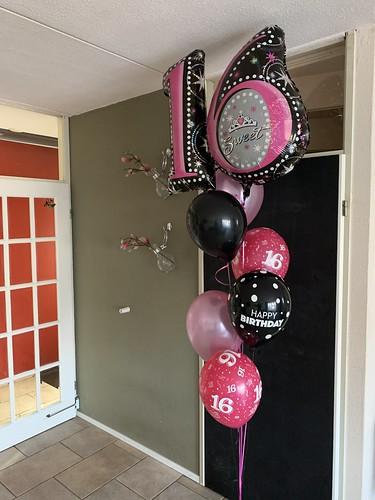 Ballonboeket Verjaardag Sweet 16