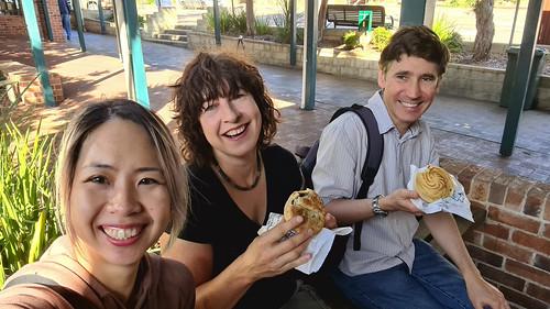 Eileen, Sue & Brett at Denmark Bakery - Denmark, Western Australia