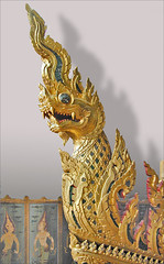 Dragon du chariot funéraire royal, musée national (Bangkok, Thaïlande)