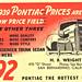 1939 Pontiac Dealership Postcard