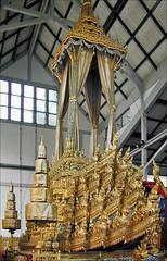 Chariot funéraire royal, musée national (Bangkok, Thaïlande)