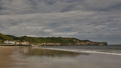 Photo of Sandsend in sepia