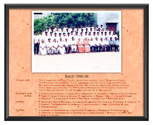 Batch 1996-98 - IARD, Coimbatore
