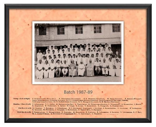 Batch 1987-89 - IARD, Coimbatore